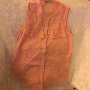 AF Girls Sleeveless Button Down